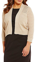 Calvin Klein Plus 3/4 Sleeve Lurex Shrug