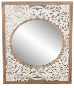 Rosemary Lane Contemporary Rectangular Wooden Framed Wall Mirror
