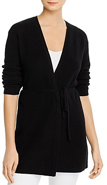 Theory Cashmere Tie-Front Cardigan Sweater