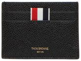 Thom Browne Men's Pebbled Leather Card Holder In Black