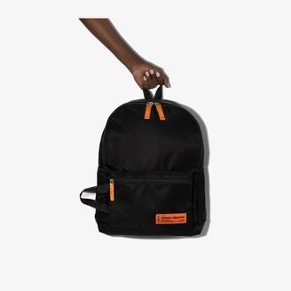 Heron Preston Black logo backpack