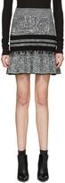 Alexander McQueen Black and Ivory Ruffled Miniskirt