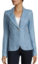 Smythe Duchess Patch Pocket Linen Blazer