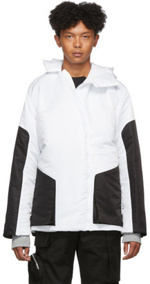 Spencer Badu White and Black Winter Coat