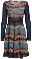 Missoni Long-Sleeve Lurex A-Line Dress