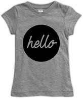 Urban Smalls Heather Gray 'Hello' Fitted Tee - Toddler & Girls