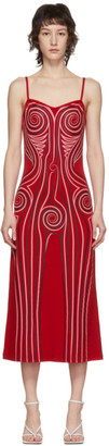 Y/Project Red Graphic Pattern Dress