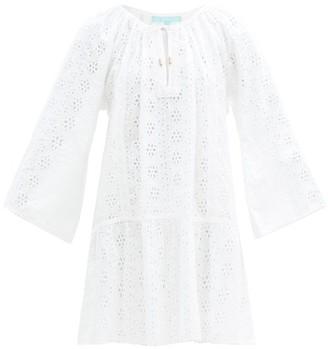 Melissa Odabash Corina Broderie-anglaise Cotton Dress - White