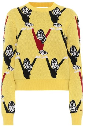 Victoria Victoria Beckham Intarsia wool sweater