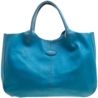 Tod's Blue Leather Shoulder Bag