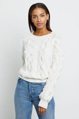 Rails Ivory Francis Sweater - XS | white | cotton - White/White