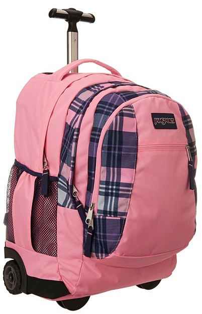 JanSport Driver 8 (Pink Pansy Preston Plaid) - Bags and Luggage