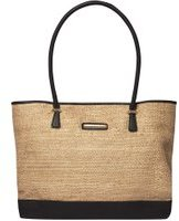 Dorothy Perkins Womens Gold Woven Beach Tote Bag- Gold