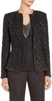 St. John Sparkle Wave Tweed Knit Jacket