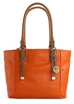 Audrey Brooke Steph Leather Buckle Tote