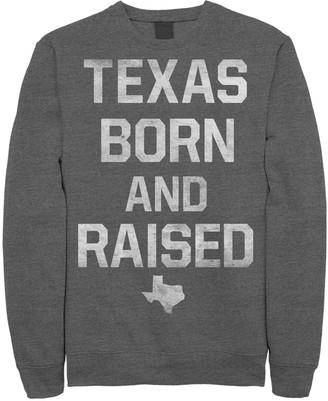 "Fifth Sun Juniors' Texas Born And Raised"" Fleece Top"