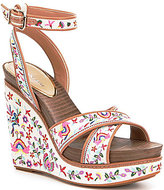 Gianni Bini Lusia Embroidered Wedges