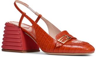 Fendi Promenade Slingback Block Heel Sandal