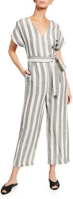 Rails Angela Striped Short-Sleeve Jumpsuit