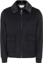 Reiss River JACKET WITH FAUX FUR COLLAR