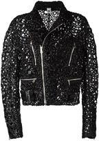 Comme des Garcons embellished biker jacket