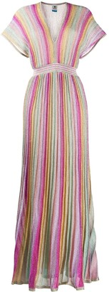 M Missoni Pleated Striped Dress