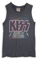 Junk Food Clothing Girl's Kiss Shout It Out Graphic Printed Tank