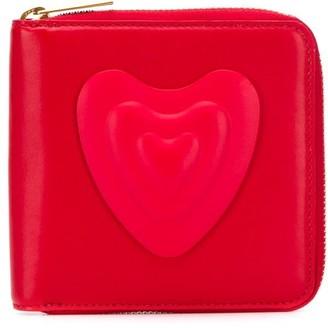 Escada heart patch wallet