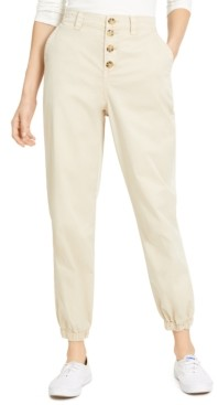 Vanilla Star Juniors' Button-Front Jogger Pants
