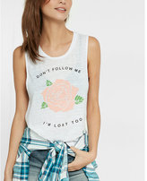 Express Don't Follow Me Graphic Tank