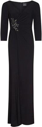 Adrianna Papell Shirred Jersey Jumpsuit