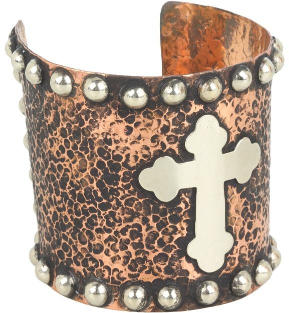 Gypsy SOULE Copper Cross Cuff (Copper) - Jewelry