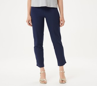 Isaac Mizrahi Live! Tall 24/7 Stretch Tulip Hem Ankle Pants