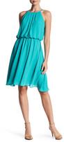 Nine West Pleated Bodice Sleeveless Dress