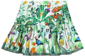 Camilla Kids Printed cotton skirt