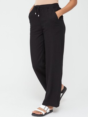 Very Linen Mix Trousers - Black