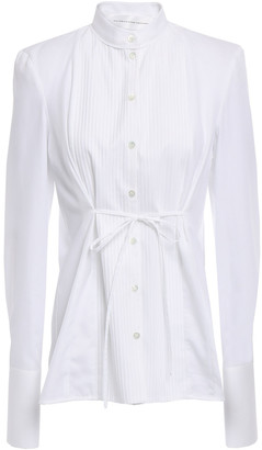Victoria Victoria Beckham Pintucked Paneled Cotton Shirt