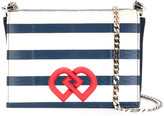 DSQUARED2 medium DD striped crossbody bag - women - Calf Leather - One Size