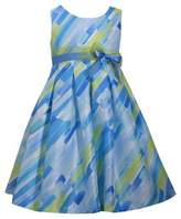 Iris & Ivy Girl's Watercolor Brush Stroke Pleated Party Dress