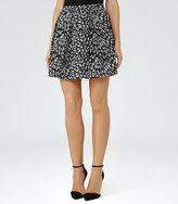 Reiss Fray Jacquard Mini Skirt