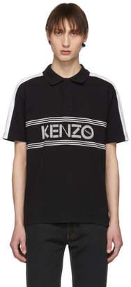 Kenzo Black and White Logo Polo