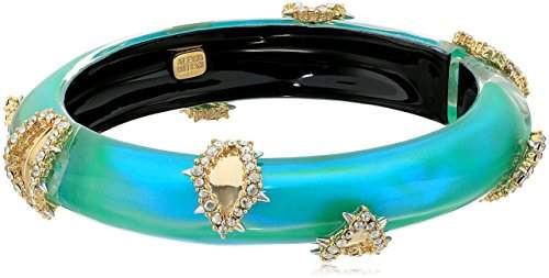 Alexis Bittar Crystal Studded Liquid Silk Hinge Bangle Bracelet