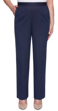 Alfred Dunner Petite Ship Shape Pull-On Pants