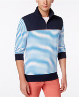 Tommy Hilfiger Men's Branson Colorblocked Striped Quarter-Zip Sweater
