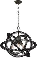 Eurofase Orbita Collection 3-Light Bronze Chandelier with Vintage Bronze Shade