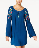 As U Wish Juniors' Embroidered Shift Dress