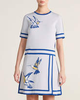 Carolina Herrera Hummingbird Intarsia A-Line Dress