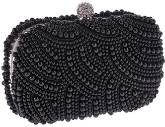 Goodnight Macaroon 'Nicole' Pearl Embellished Clutch (3 Colors)