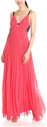 ABS by Allen Schwartz Women's Lace Back Pleated Gown