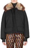 Dries Van Noten Faux Fur Short Swing Coat